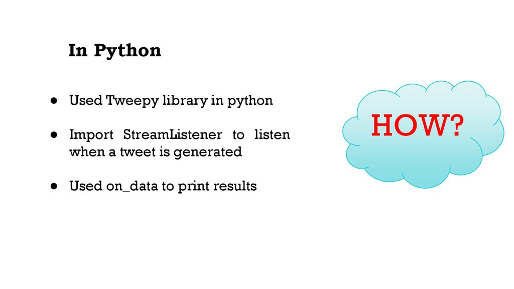 Feature Extraction on Twitter Streaming data using Spark RDD