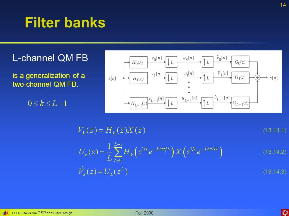 Filter banks L-channel QM FB