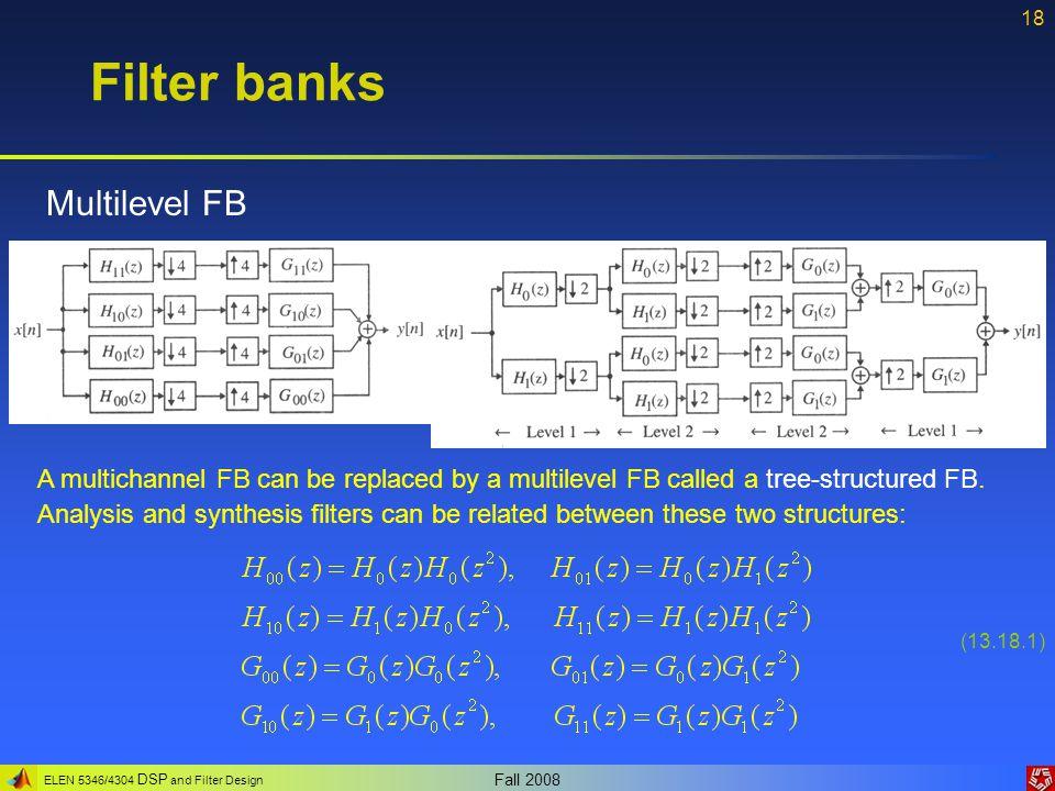 Filter banks Multilevel FB