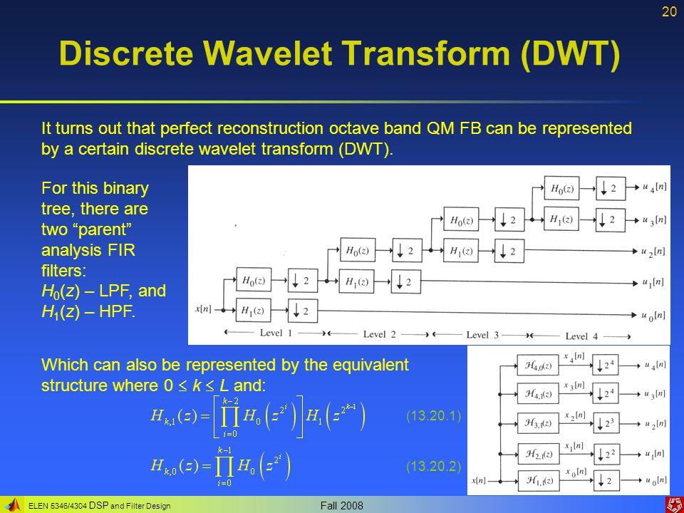 Discrete Wavelet Transform (DWT)