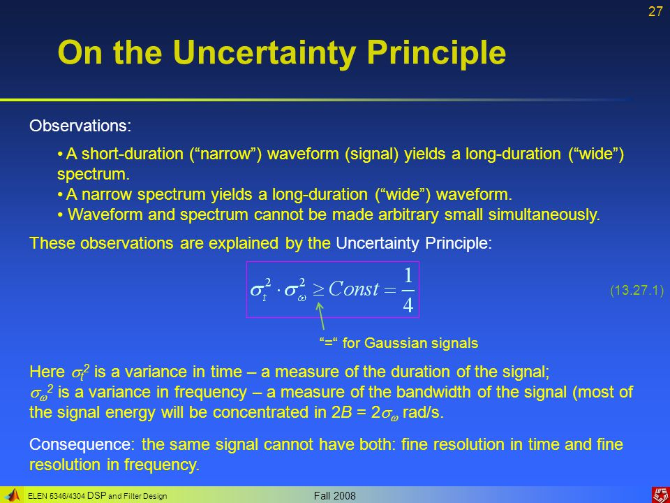 On the Uncertainty Principle