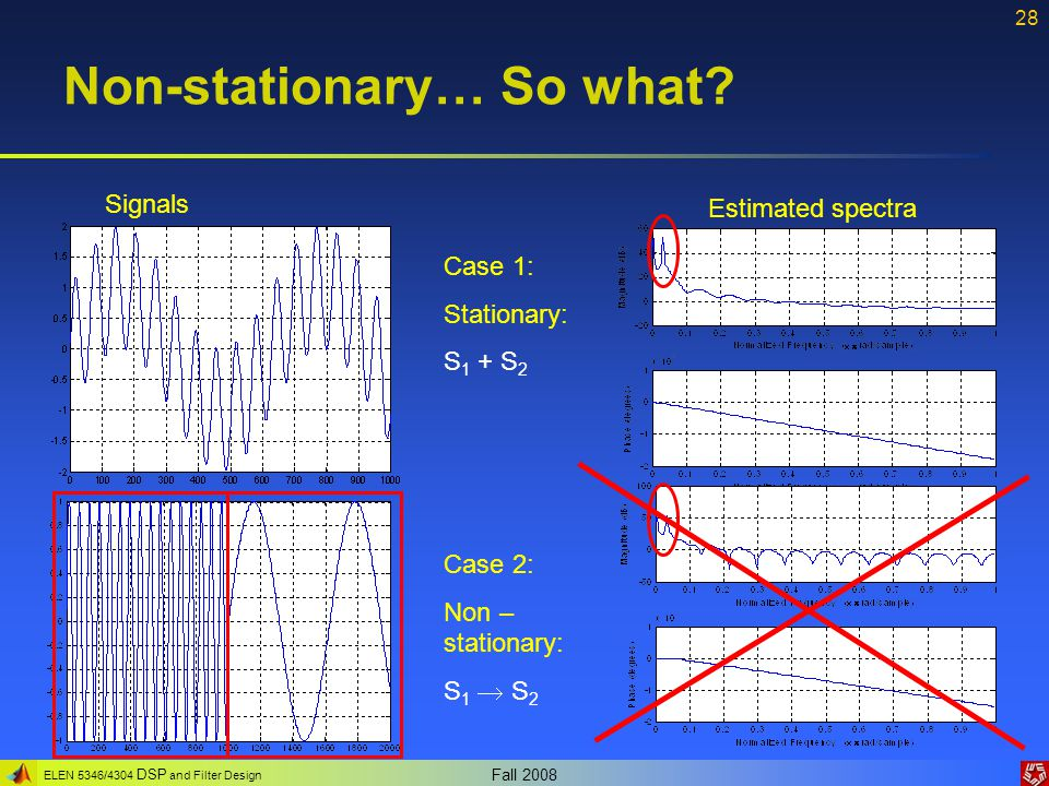 Non-stationary… So what