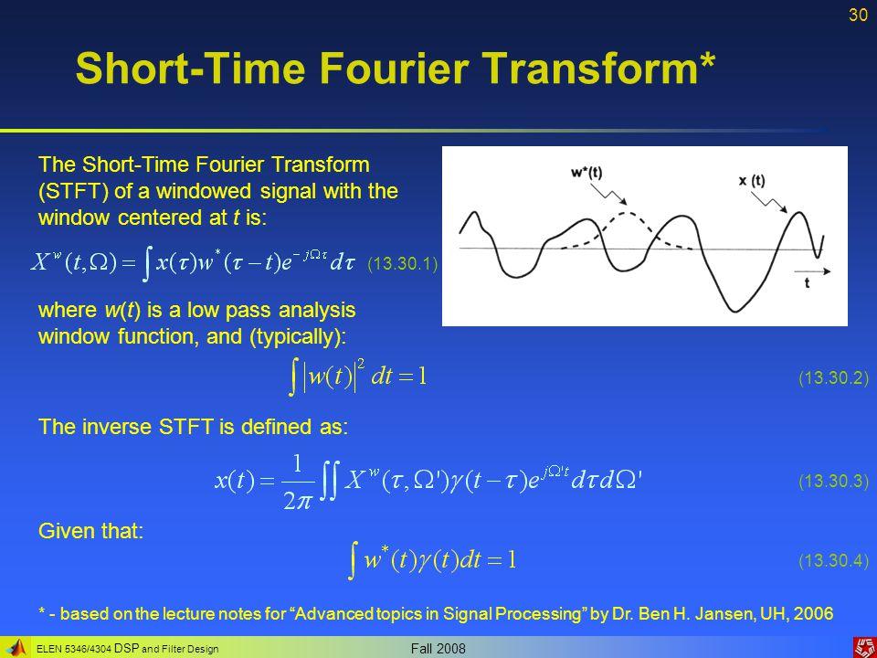Short-Time Fourier Transform*