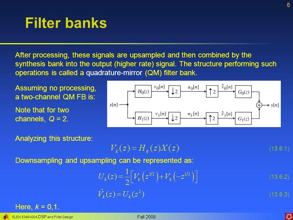 Filter banks