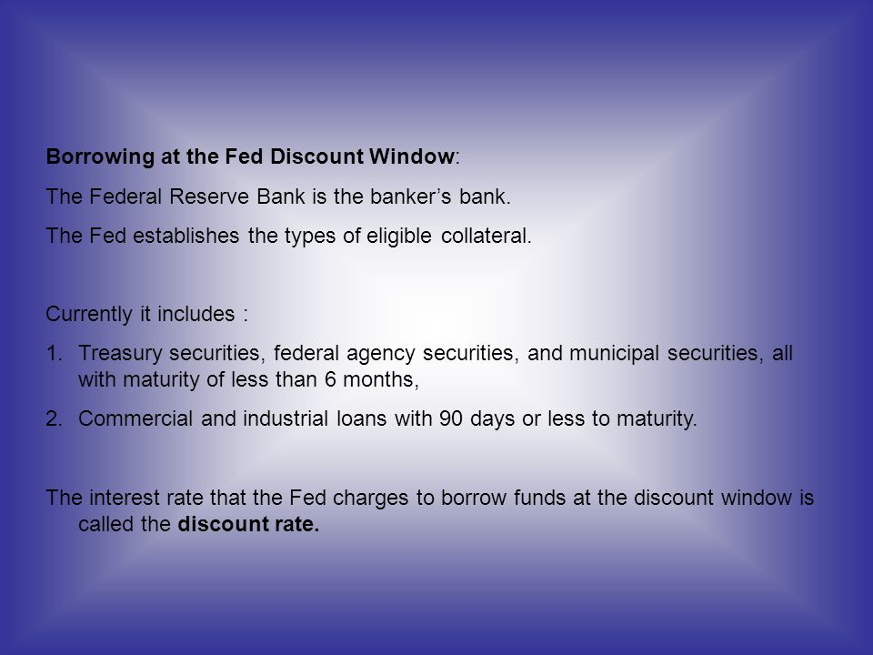 Borrowing at the Fed Discount Window: