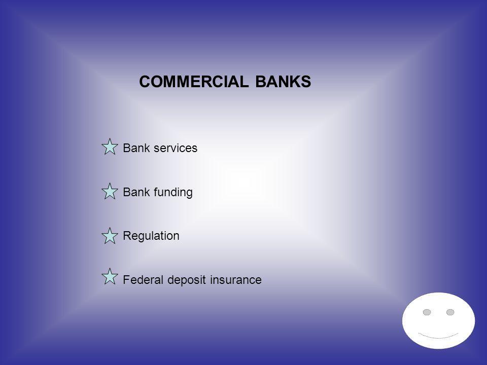 COMMERCIAL BANKS Bank services Bank funding Regulation