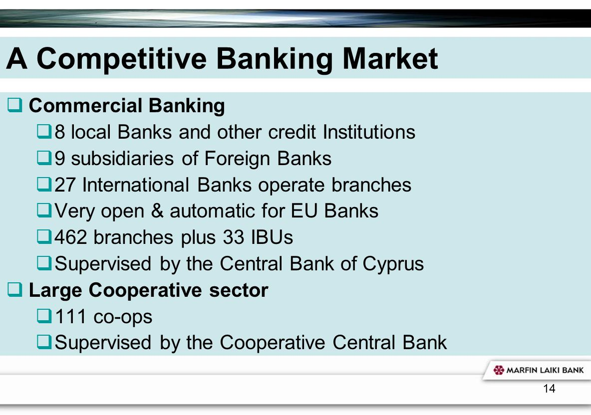 A Competitive Banking Market