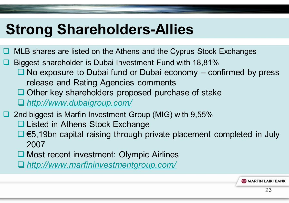Strong Shareholders-Allies