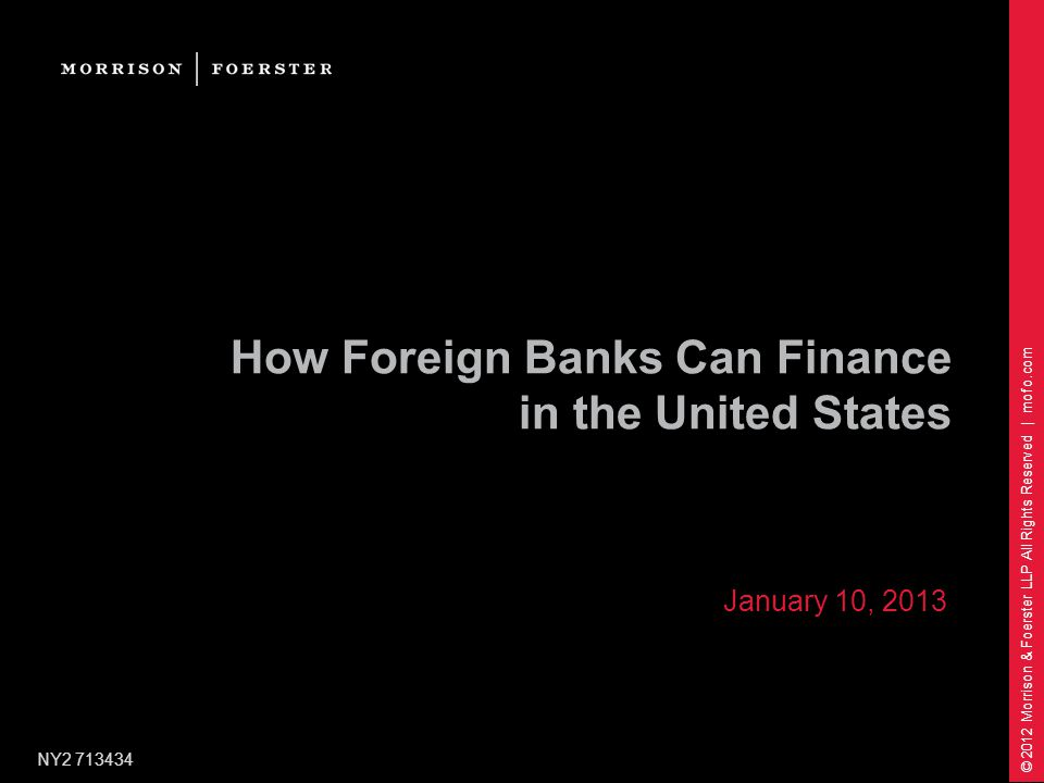 How Foreign Banks Can Finance in the United States