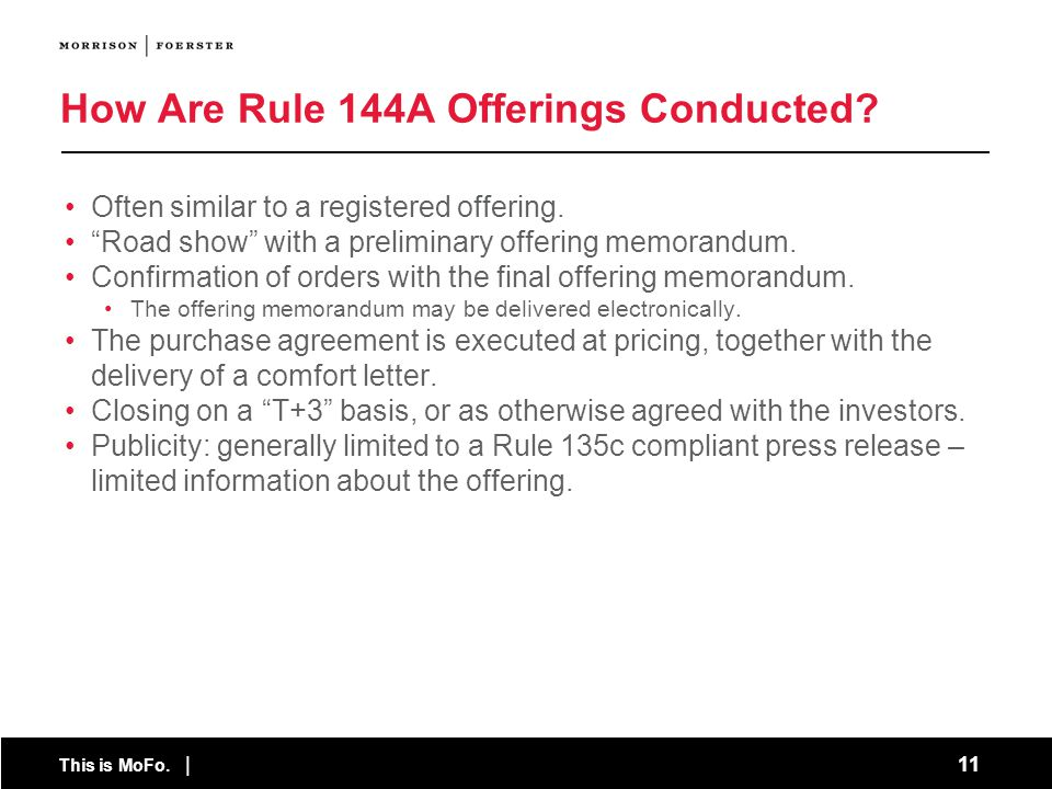 How Are Rule 144A Offerings Conducted
