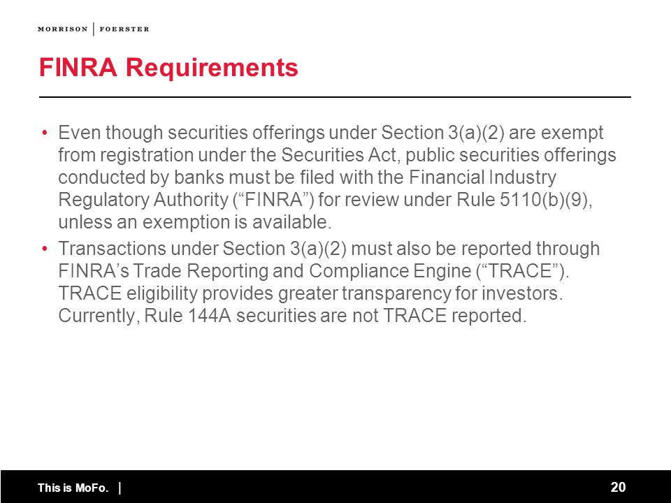 FINRA Requirements