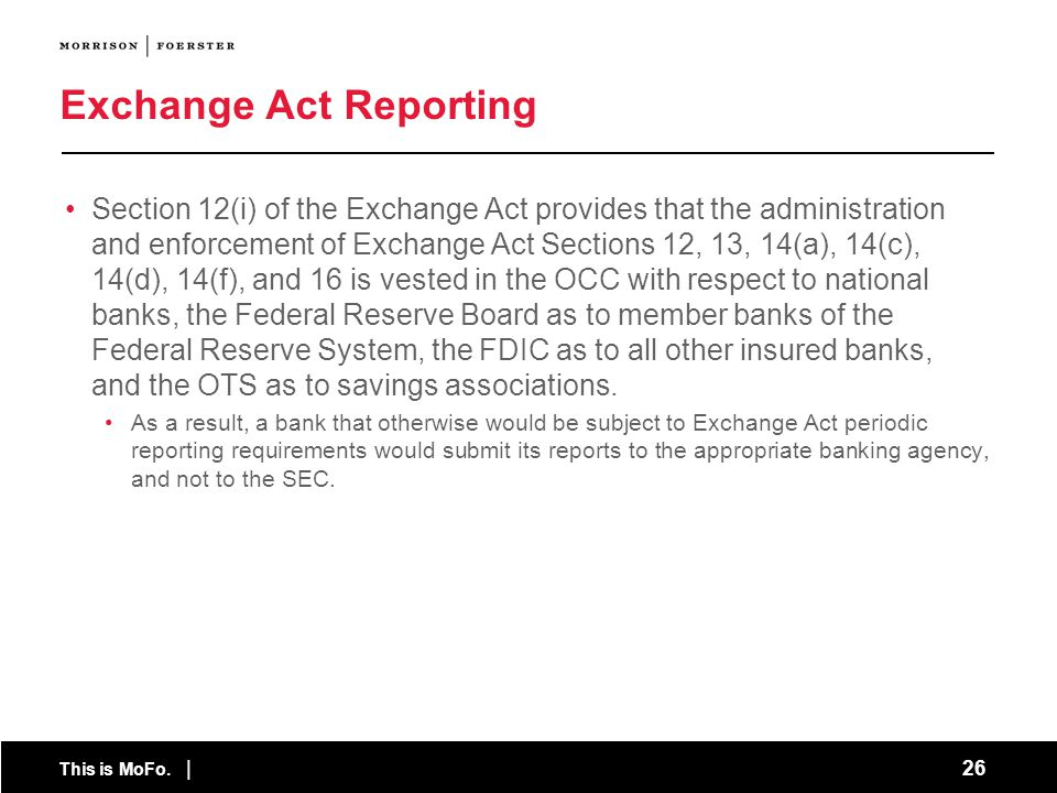 Exchange Act Reporting