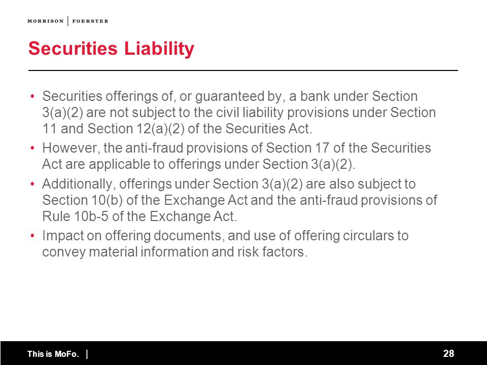 Securities Liability