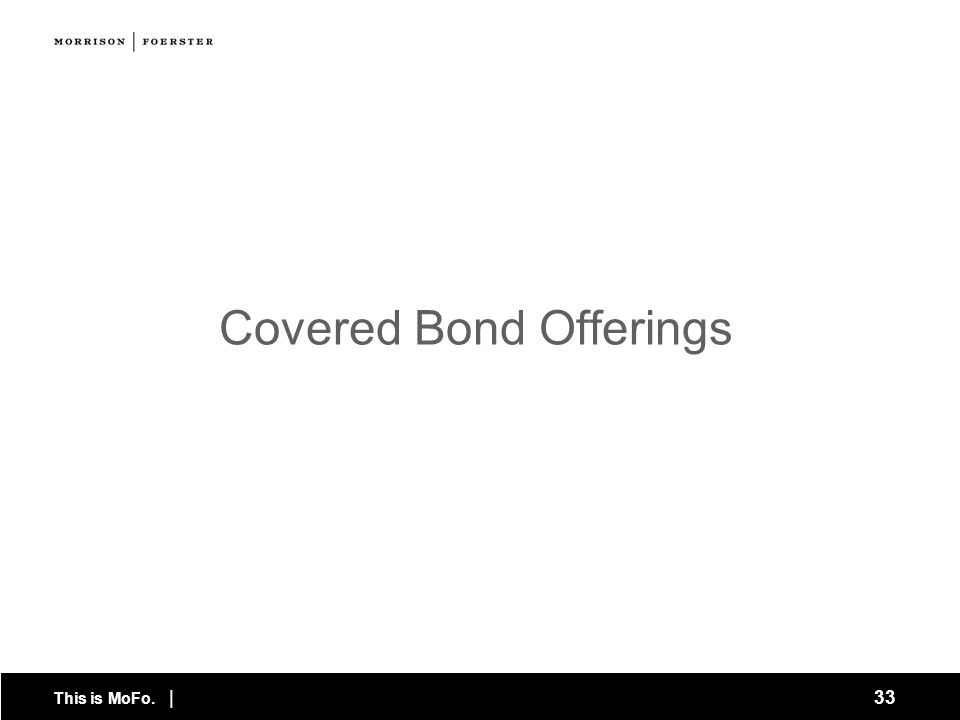Covered Bond Offerings
