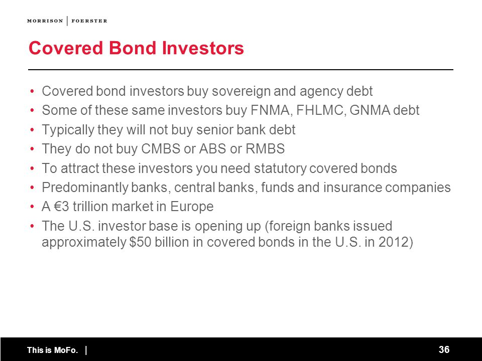 Covered Bond Investors