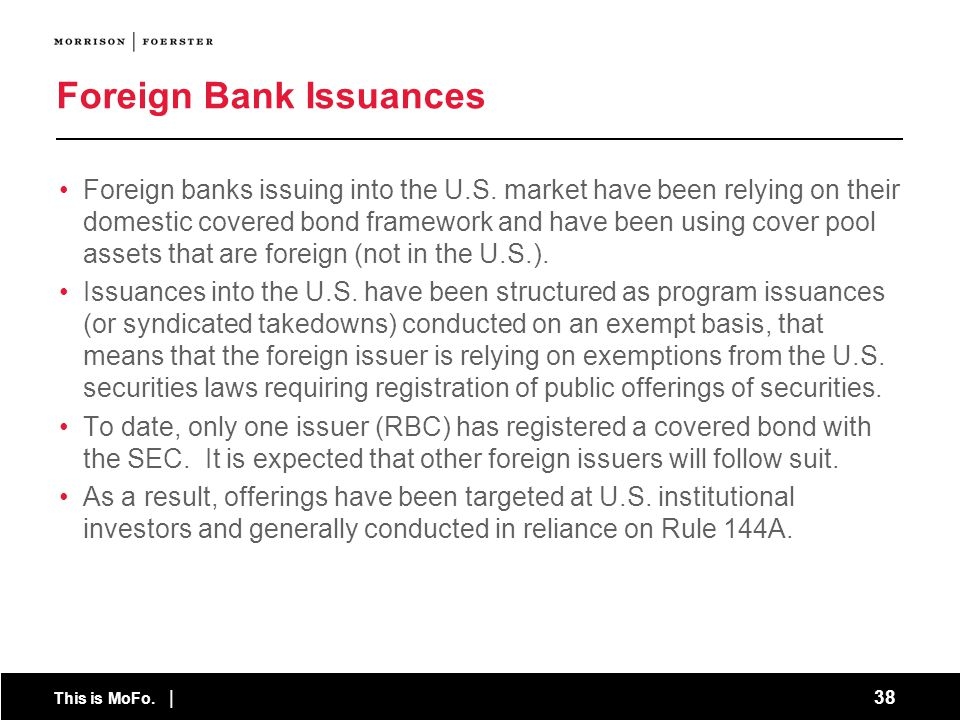 Foreign Bank Issuances
