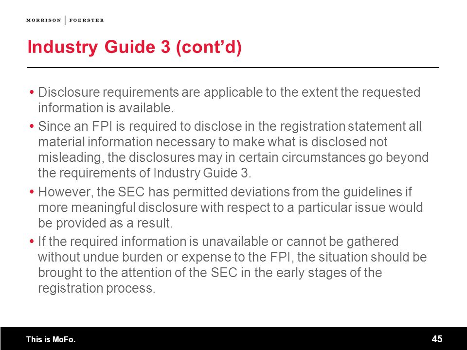 Industry Guide 3 (cont'd)