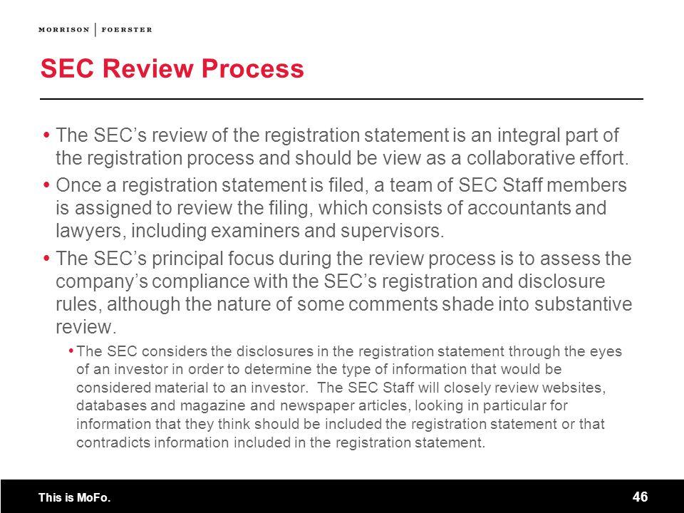 SEC Review Process