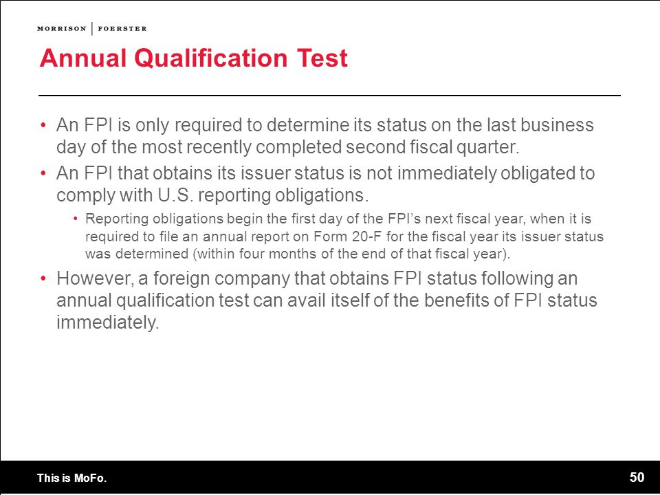 Annual Qualification Test