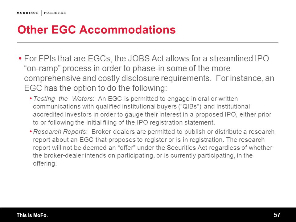 Other EGC Accommodations