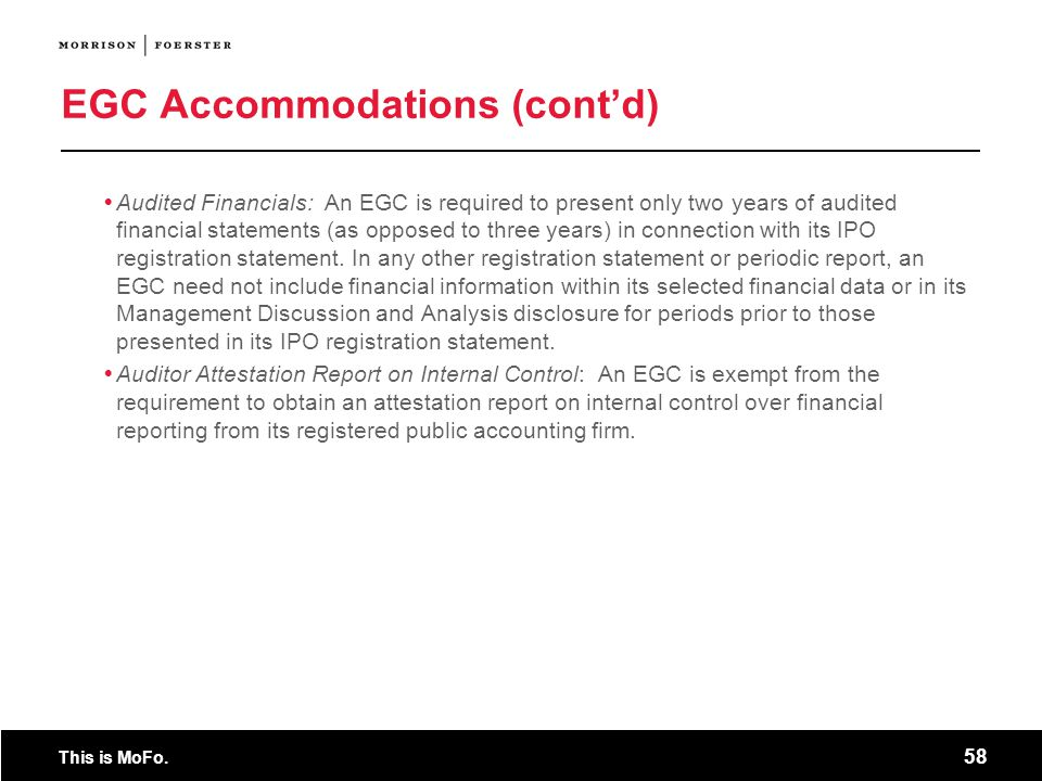 EGC Accommodations (cont'd)