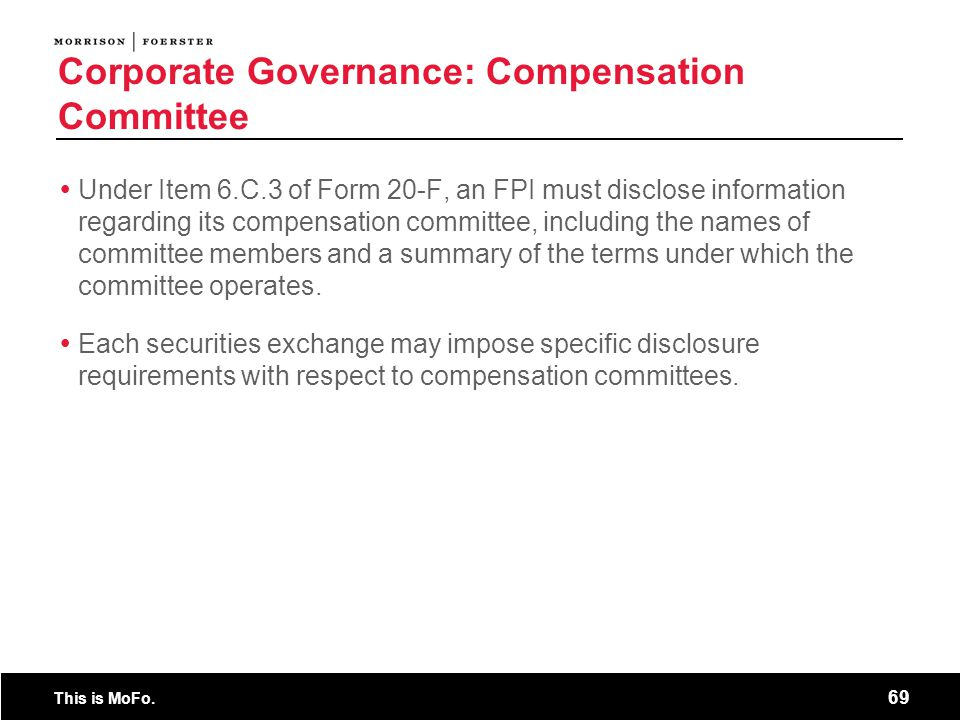 Corporate Governance: Compensation Committee