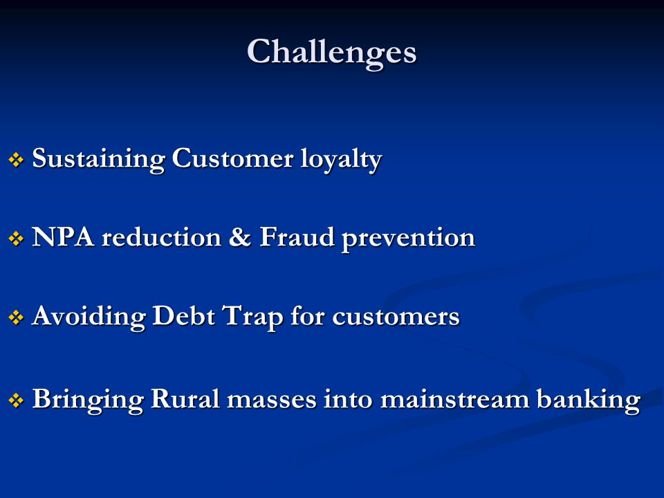 Challenges Sustaining Customer loyalty