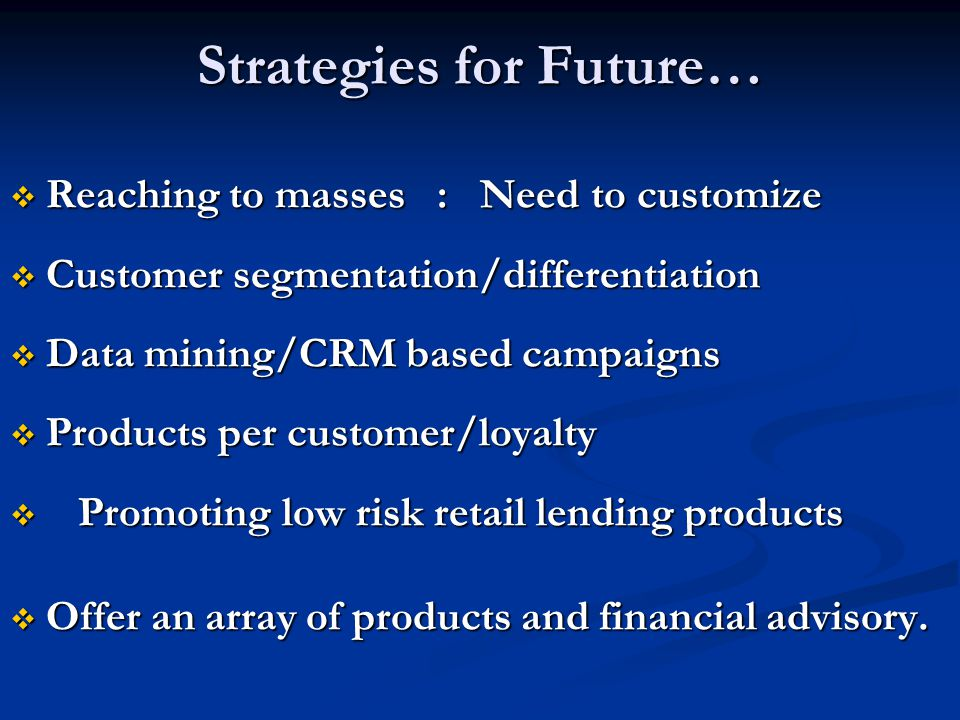 Strategies for Future…