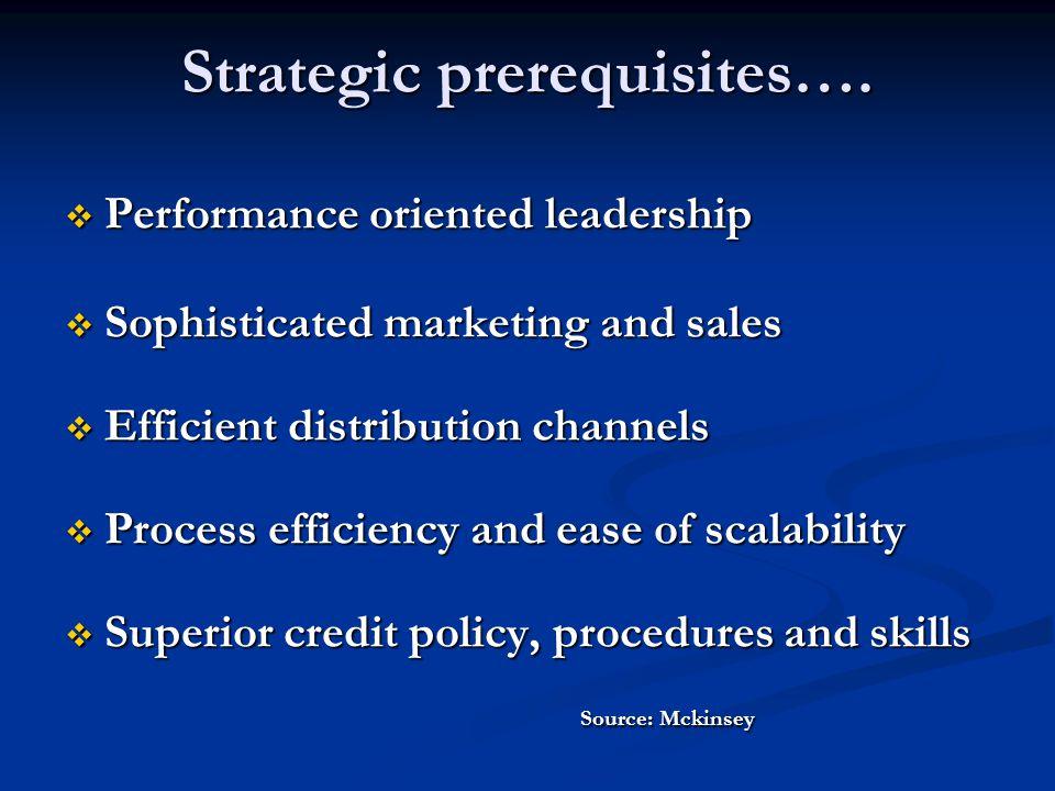Strategic prerequisites….