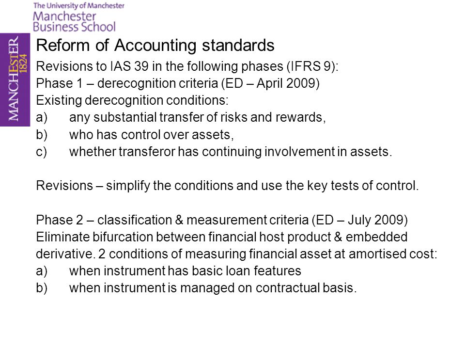 Reform of Accounting standards