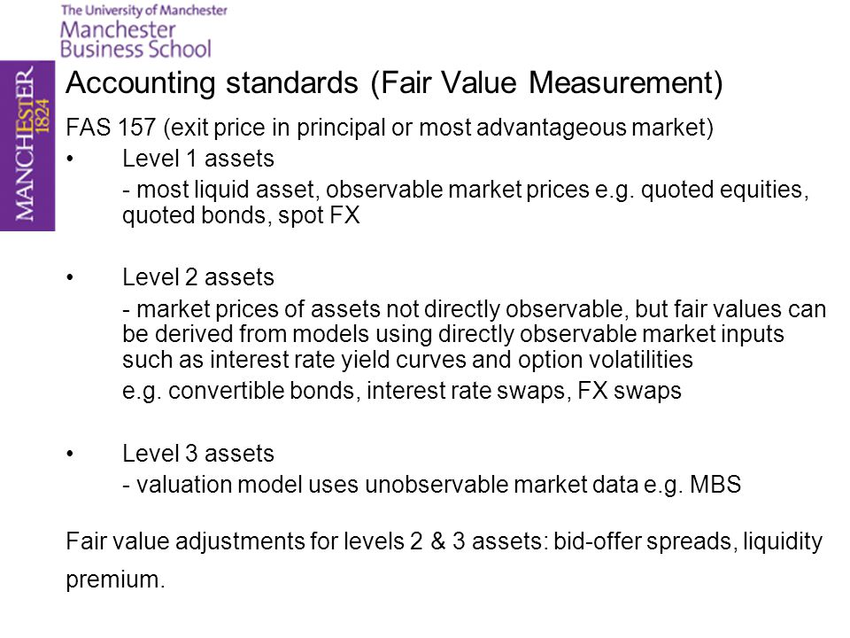 Accounting standards (Fair Value Measurement)