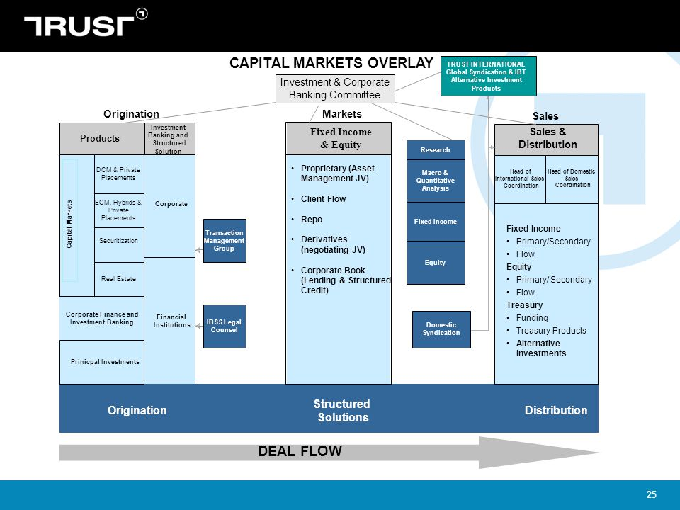 CAPITAL MARKETS OVERLAY