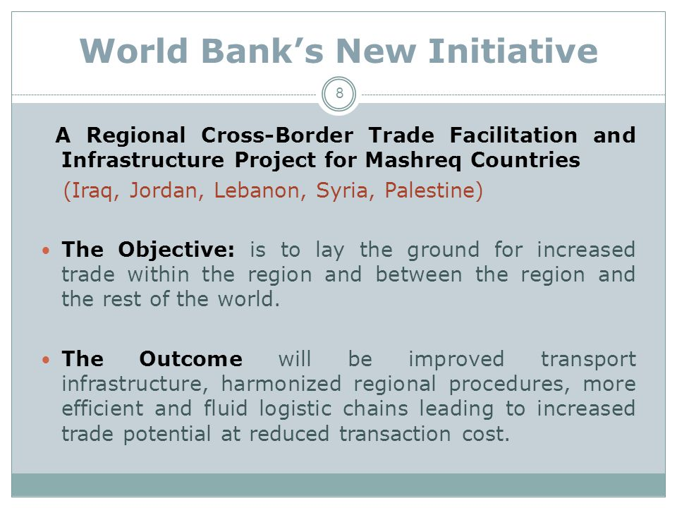 World Bank's New Initiative