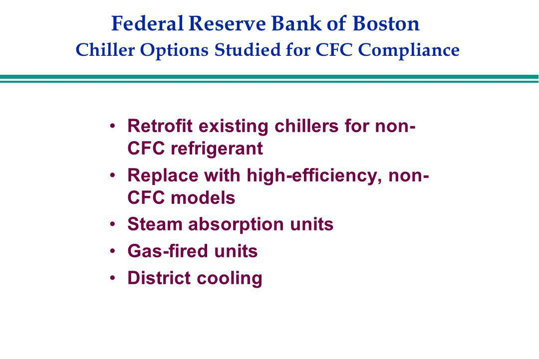 Federal Reserve Bank of Boston Chiller Options Studied for CFC Compliance