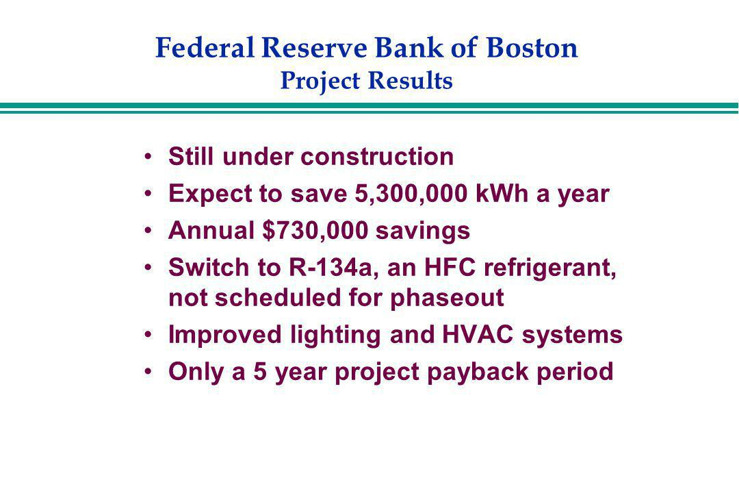 Federal Reserve Bank of Boston Project Results