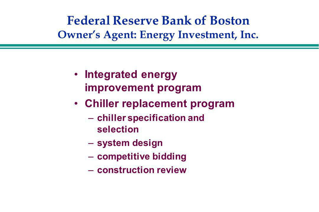 Federal Reserve Bank of Boston Owner's Agent: Energy Investment, Inc.