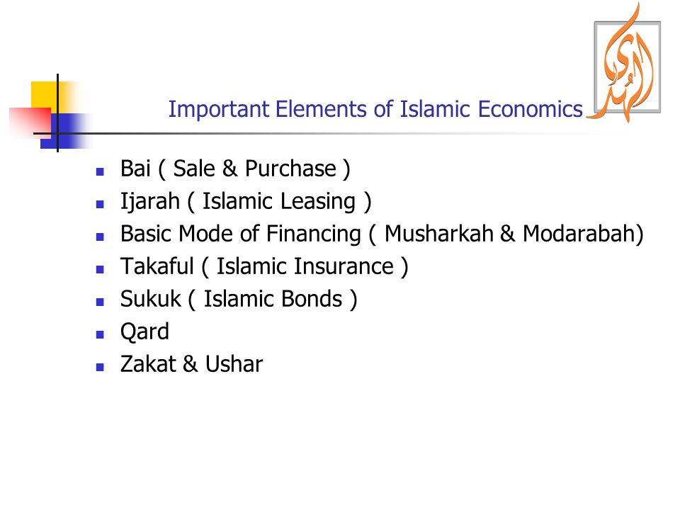 Important Elements of Islamic Economics
