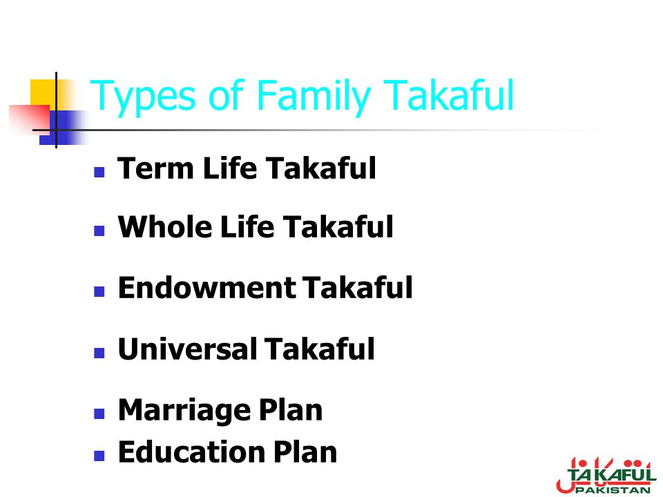 Types of Family Takaful