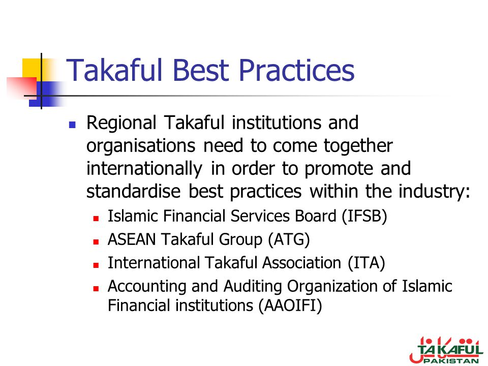 Takaful Best Practices