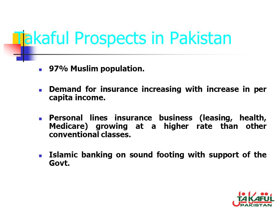 Takaful Prospects in Pakistan