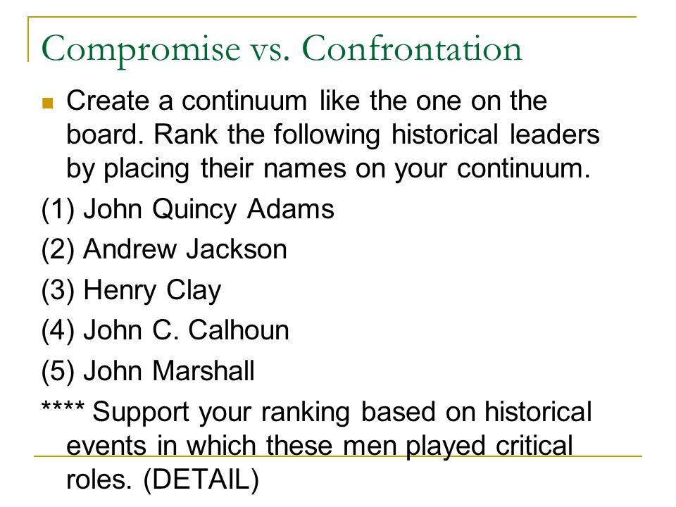 Compromise vs. Confrontation