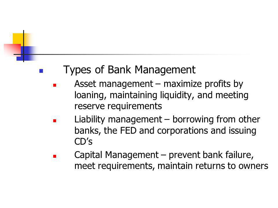 Types of Bank Management