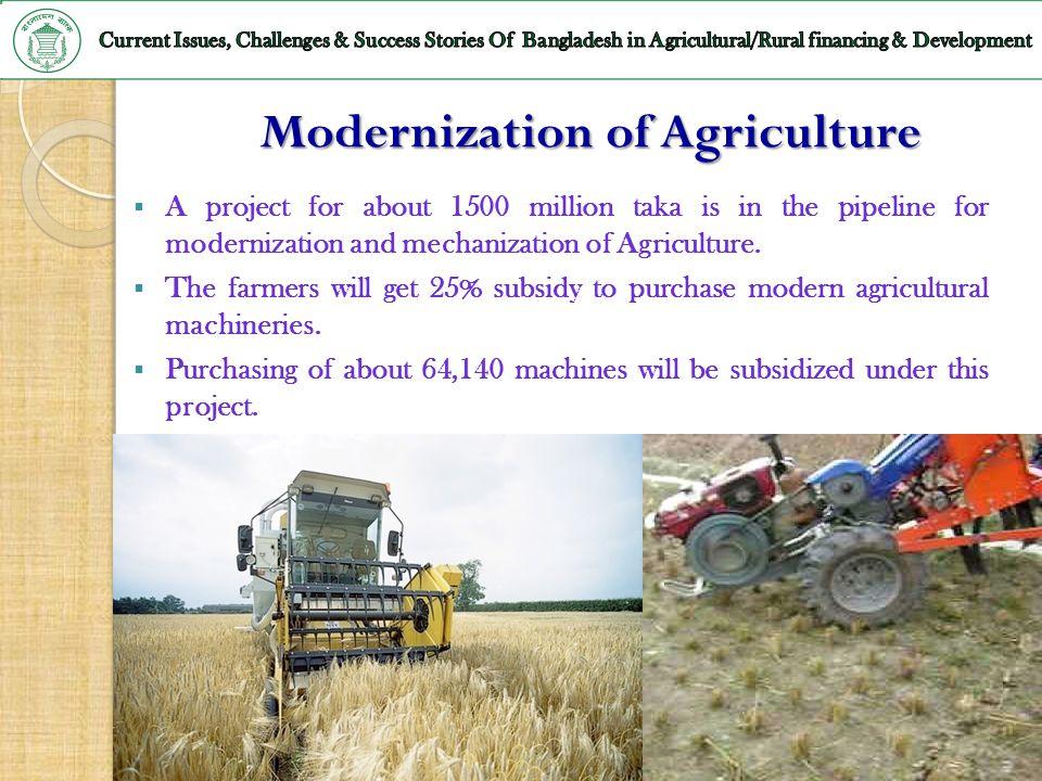 Modernization of Agriculture