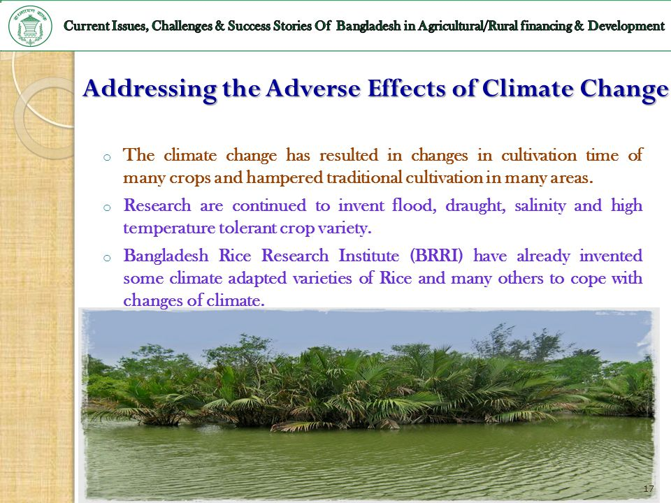 Addressing the Adverse Effects of Climate Change