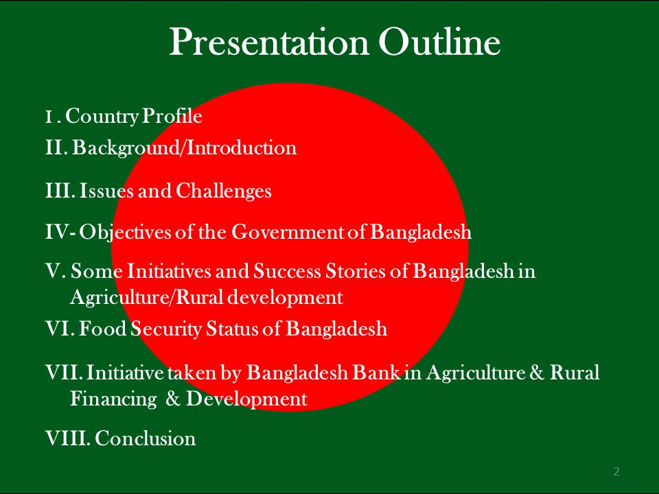 Presentation Outline II. Background/Introduction