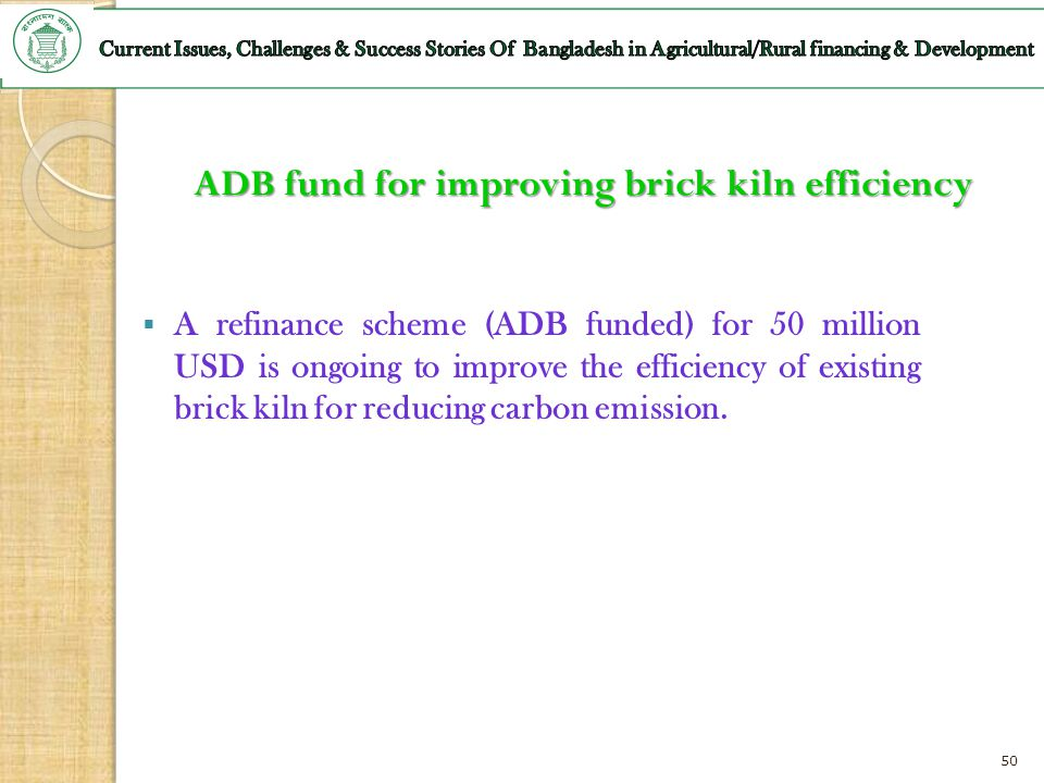 ADB fund for improving brick kiln efficiency