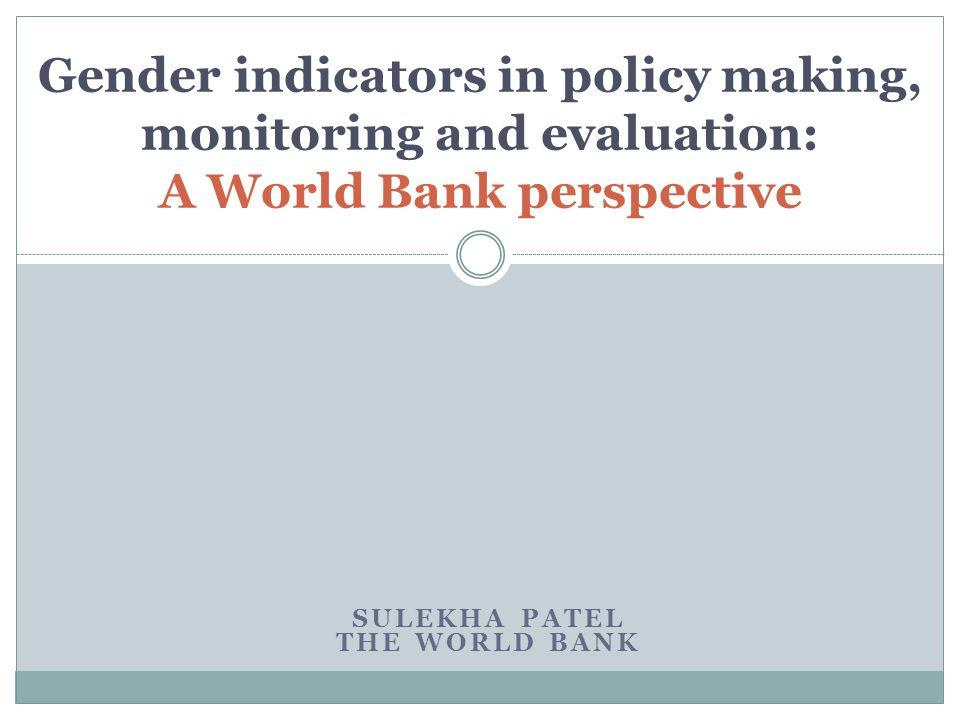 Sulekha Patel The World Bank