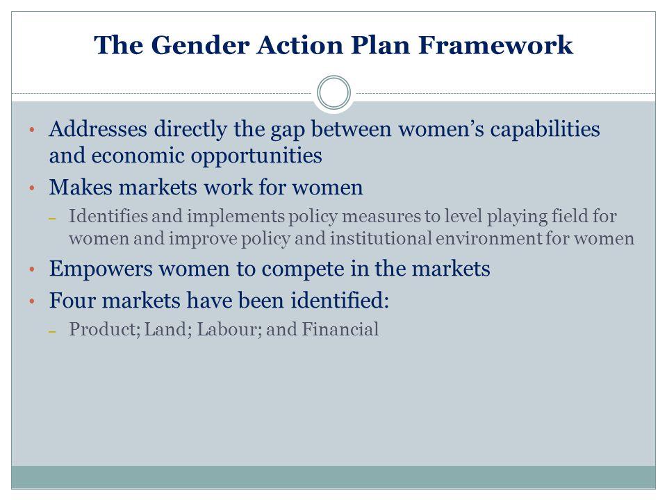 The Gender Action Plan Framework