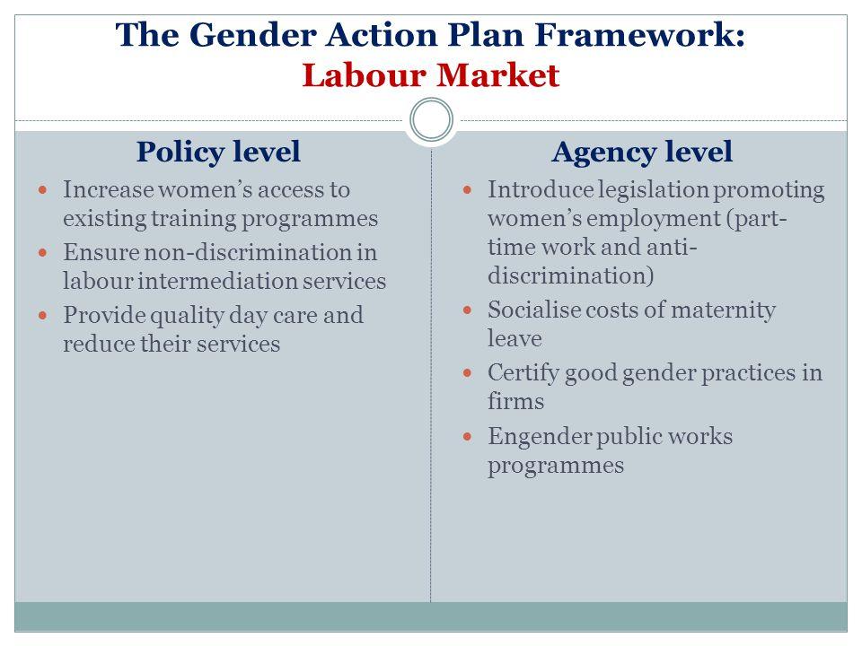 The Gender Action Plan Framework: Labour Market