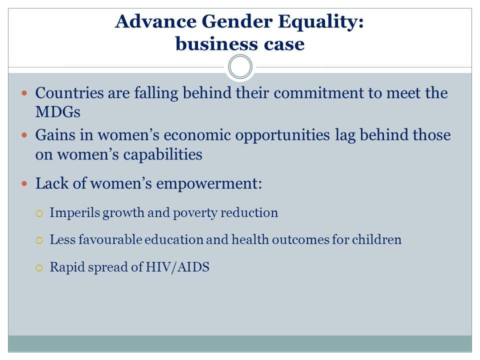 Advance Gender Equality: business case